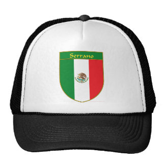 Serrano Mexico Flag Shield Trucker Hat