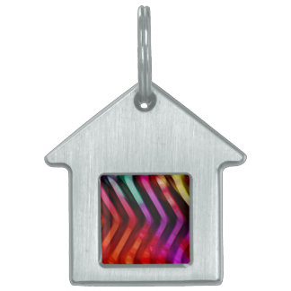 SERRATED RAINBOW PET NAME TAG