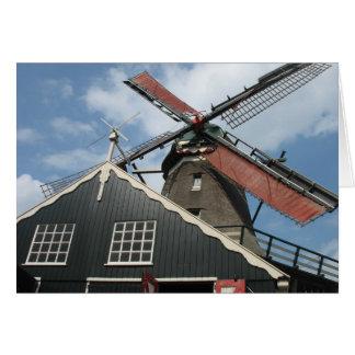 Serrería de Holanda en IJlst, tarjeta de Frisia Ho