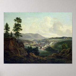 Serrería en Noruega, 1827 Póster
