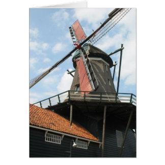 Serrería holandesa en IJlst, tarjeta de Frisia Hol