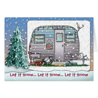 Serro Scotty Camper Trailer Holiday Cards