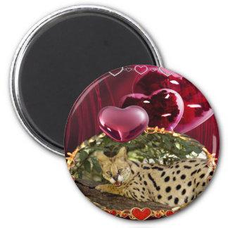 serval-00164 2 inch round magnet