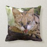 serval 013 throw pillow