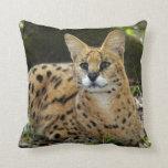 serval 015 throw pillow