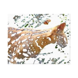 serval cat watercolor pale feline image canvas prints