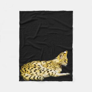 Serval Fleece Blanket