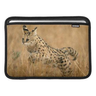 Serval (Leptailurus Serval) Jumping MacBook Air Sleeves