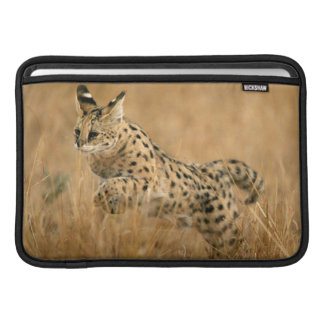 Serval (Leptailurus Serval) Jumping MacBook Sleeve