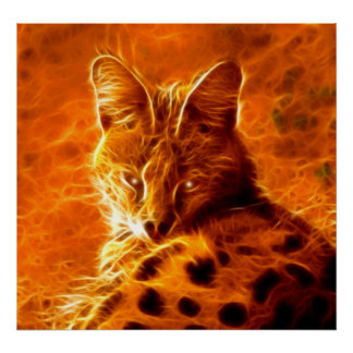 Serval Wild Spirit Cat Poster Print