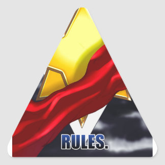 SERVANT RULES Stormcloud design Triangle Sticker