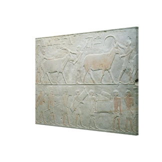 Servants driving an oryx and an antelope canvas print