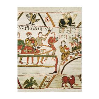 Servants prepare a banquet for William I Gallery Wrap Canvas