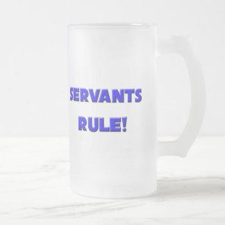 Servants Rule! Frosted Glass Beer Mug