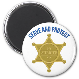 Serve And Protect 2 Inch Round Magnet