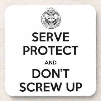 Serve and Protect Coaster