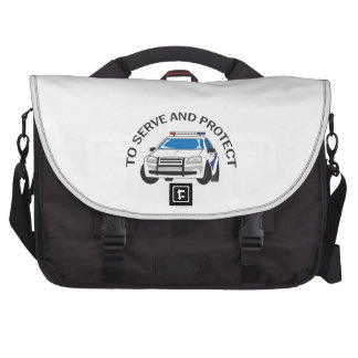 SERVE AND PROTECT LAPTOP COMPUTER BAG