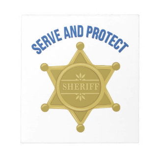 Serve And Protect Notepad