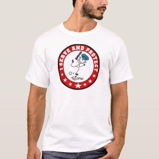 Serve and Protect Policeman T-Shirt