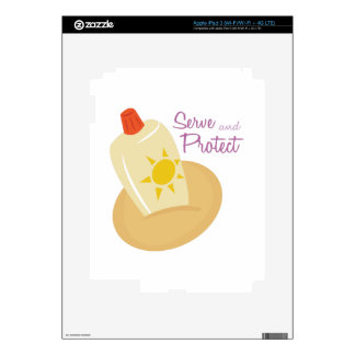 Serve and Protect iPad 3 Decal