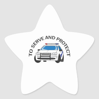 SERVE AND PROTECT STAR STICKER