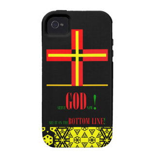 Serve GOD! iPhone 4 Cover