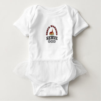 serve god serve mankind art baby bodysuit