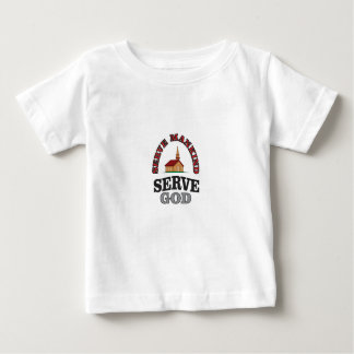 serve god serve mankind art baby T-Shirt