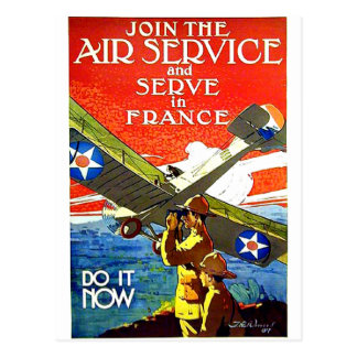 Serve In France Postcard