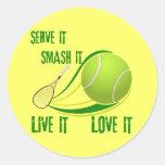 SERVE IT, SMASH IT, LIVE IT, LOVE IT STICKERS