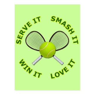 Serve It - Smash It - Win It - Love It Postcard