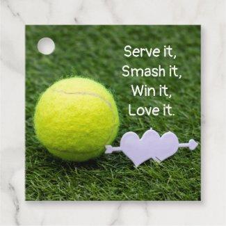 Serve it Smash it Win it Love it Tennis Favor Tags