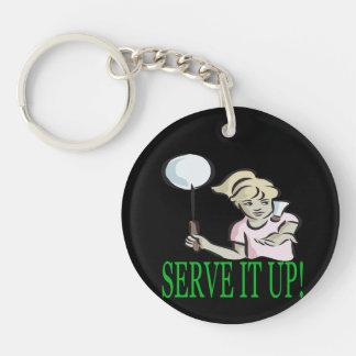 Serve It Up Keychain