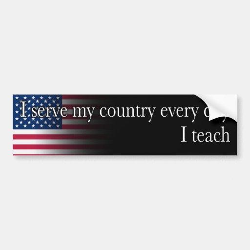 Serve - Teach Car Bumper Sticker