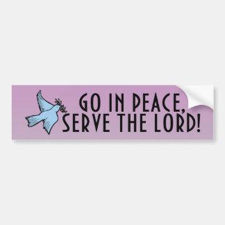 Serve The Lord Bumper Sticker