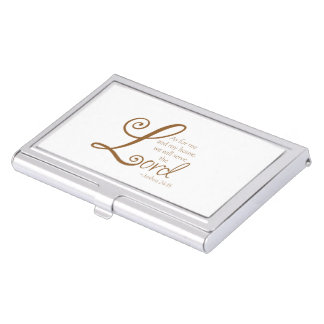 Serve The Lord Business Card Case