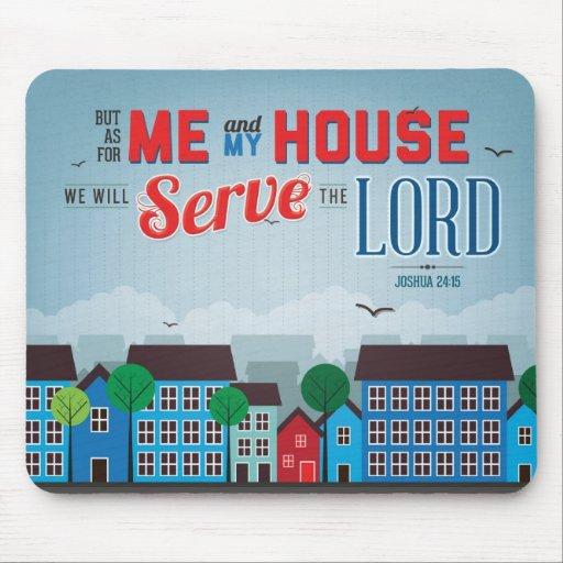Serve the Lord Mousepad - Joshua 24:15 Bible Verse