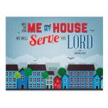 Serve the Lord Mousepad - Joshua 24:15 Bible Verse Postcard