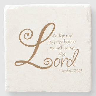 Serve The Lord Stone Coaster