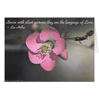 Serve with silent gestures... greeting card
