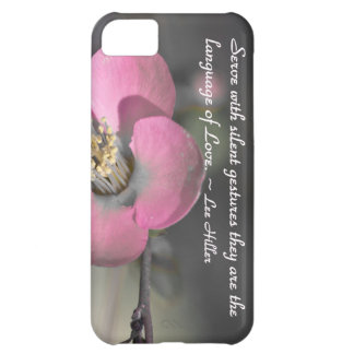 Serve with silent gestures... iPhone 5C case