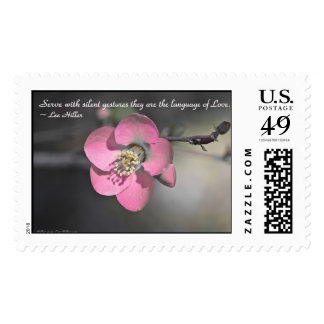 Serve with silent gestures... USPS Stamps