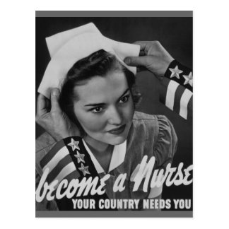 Serve Your Country Become a Nurse Postcard