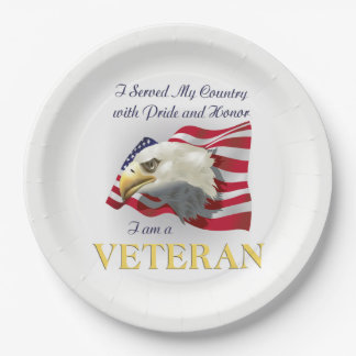 Served My Country Veterans Day Party Paper Plates