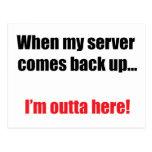 Server Down Postcard