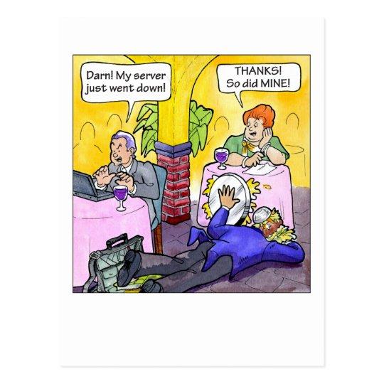 Server Down! Postcard