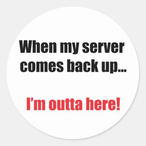 Server Down Sticker