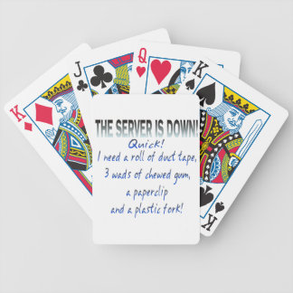 Server is Down Bicycle Playing Cards
