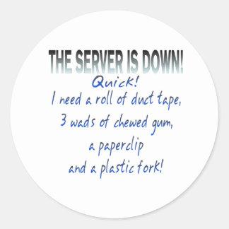 Server is Down Sticker