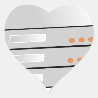 Servers. Heart Sticker